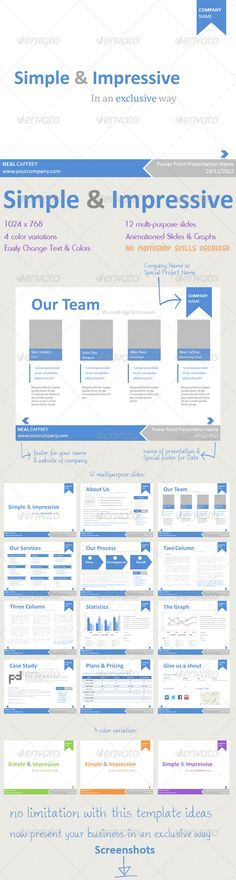 Simple & Impressive PowerPoint Template  - GraphicRiver Item for Sale