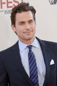 HELLO Matt Bomer! Check out that chiselled jawline