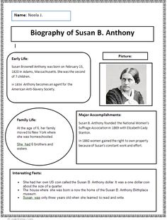Biography Research Finished Example