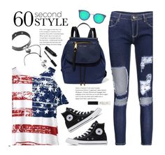 """""""60-Second Style: Outdoor Concerts"""" by beebeely-look ❤ liked on Polyvore featuring Marc Jacobs, Converse, Bobbi Brown Cosmetics, Topshop, casual, converse, sammydress, 60secondstyle and outdoorconcerts"""