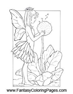 sad fairy coloring pages - photo#4