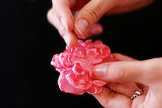 Fabric Flower Tutorial: Step 5 by Simply Vintagegirl, via Flickr