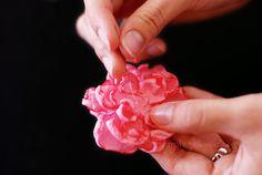 Fabric Flower Tutorial: Step 5 by Simply Vintagegirl, via Flickr