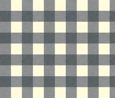 gingham_slate fabric by holli_zollinger on Spoonflower - custom fabric