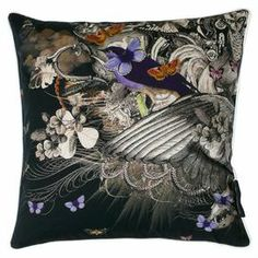 Make a statement on your sofa or master bed with this striking 100% cotton cushion. Featuring a whimsical design, display alone for a focal point or team with mixed motif cushions for an eclectic feel.  Product: CushionConstruction Material: 100% CottonColour: Black and greyFeatures:  Insert included Dimensions: 40 cm H x 40 cm W x 8 cm DCleaning and Care: Machine wash at 40°C
