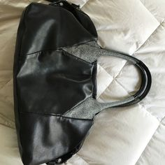 Foley + Corinna black leather stingray bag I just bought I've only used it for a week. Decided I needed something bigger. $450 new. Comes with tags and dust bag. Foley + Corinna Bags Totes