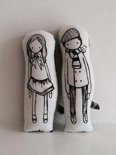 Hand made dolls from nakedlunge.bigcartel.com