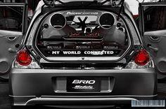 Honda Brio Modulo | Bangkok International Auto Salon 2013 Honda Brio, Bangkok, Cars Motorcycles, Cool Cars, Vehicles, Dan, Sketches, Concept, Interior