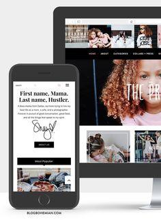 Modern Blog Design / Website Design Fully Customized & Branded