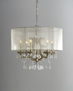 Chandelier floor lamp decor objects pinterest floor lamp veiled shade chandelier by john richard collection at horchow greentooth Images