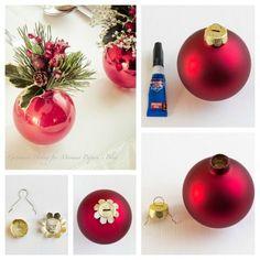 Decorazioni per la tavola di Natale con tutorial | Mamma Papera