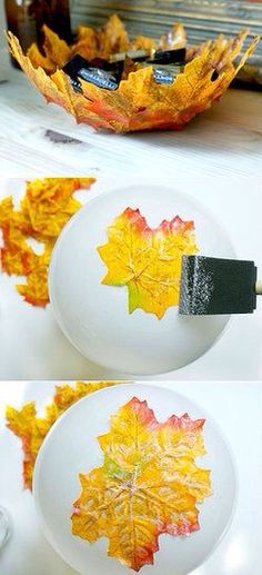 DIY Leaf bowl use real, or fake leaves