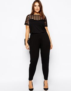 Women casual jumpsuit plus size 3XL6XL elegant rompers Feet jumpsuit patchwork grids solid black office women fashion clothes-in Jumpsuits & Rompers from Women's Clothing & Accessories on Aliexpress.com | Alibaba Group