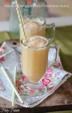 Honey and Orange Creamsicle Slushy by Picky Palate @Jenny Flake, Picky Palate