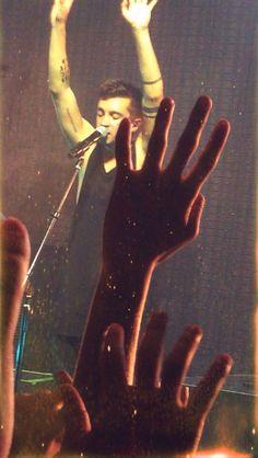 """Hands held higher, we'll be on fire, singing songs that nobody wrote..."" —Twenty One Pilots"