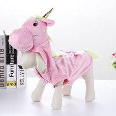 Pet Pink Unicorn Cosplay Costumes Dog Halloween Cosplay Jumpsuit Puppy Disguise #Unbranded #Costume