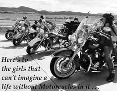 My Favorite Motorcycle Pictures and Memes Page 4 Motorcycle Riding Quotes, Women Riding Motorcycles, Motorcycle Memes, Women Motorcycle Quotes, Harley Gear, Bike Pic, Bike Quotes, Biker Shirts, Dirtbikes