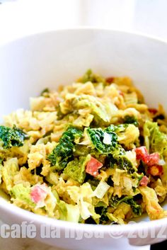 Savoy Cabbage Bavarian Way (with Cream and Bacon)
