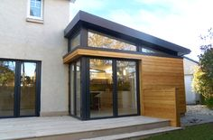 We've tried in the past to explain how the garden room companies can also build striking home extensions and these stunning photos by Aberdeen based Dab Den just prove our point. House Extension Plans, Extension Designs, House Extension Design, Roof Extension, House Design, Extension Google, Extension Ideas, Bungalow Extensions, Garden Room Extensions