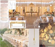Raw, blush and gold wedding insperation