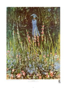 Madame Monet in Her Garden at Giverny  by Claude Monet