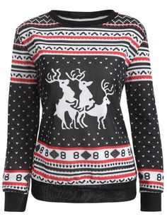 Deer Print Ugly Christmas Sweatshirt Idea. Hilarious