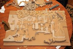 """100113--1 3D Art Project George-Pierre Seurat's """"Sunday Afternoon"""""""