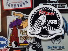 vintage vans skateboard sticker  fast times at ridgemont high style