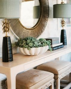 pretty console table vignette // Hillary Thomas Design