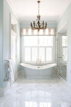 colors, chandelier, tub, marble... simply divine