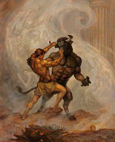 Theseus and Minotaur