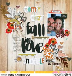 """The Cut Shoppe: Fall in Love by Wendy Antenucci uses the """"Hello Fall"""" and """"Bountiful Blessings"""" cut files."""