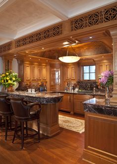 How to design your kitchen design in a thematic area – lamp ideas Kitchen Pantry Design, Kitchen Cabinet Styles, New Kitchen Designs, Luxury Kitchen Design, Home Decor Kitchen, Rustic Kitchen, Interior Design Kitchen, Elegant Kitchens, Luxury Kitchens