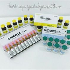 Cindella Whitening Injection 1200mg RM978  Each set contains: ♡	10 ampoules x 5ml of Cindella (Thioctic Acid 25mg). ♡	10 vials x 20ml of Vitamin C (Ascorbic Acid 10gm). ♡	10 vials of Luthione (Glutathione 1200mg).  #naturalbeautykshop #harirayaspecialpromotion #cindellawhiteninginjection #whitening #injection #kbeauty #korean #beauty #koreanbeauty #cosmetic #koreancosmetic #koreanskincare #skincare #malaysiaonlineshop #onlineshop #kshop #beautykshop #beautyaddict #beautyproduct