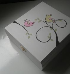 Handpainted Keepsake Box by IHeartUBabies on Etsy, $32.50