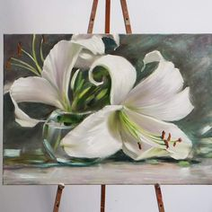 My wedding flowers – Merve Şarcı – Join the world of pin Art Floral, Abstract Flowers, Watercolor Flowers, Lily Painting, Pretty Art, Art Oil, Flower Art, Beautiful Flowers, Art Projects