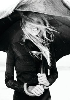 Happiness in the rain.