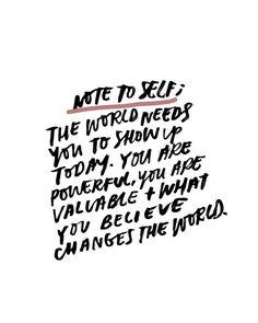 Note To Self — Jenessa Wait