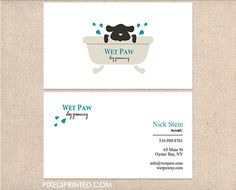 dog walker business cards, pet sitter business cards, dog grooming business…