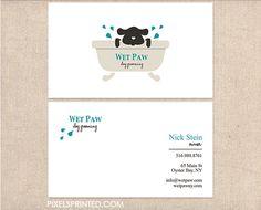 dog walker business cards, pet sitter business cards, dog grooming business…