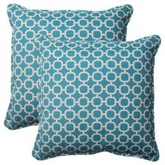 Pillow Perfect Indoor/Outdoor Hockley Corded Throw Pillow, 18.5-Inch, Teal, Set of 2 Pillow Perfect  http://www.amazon.com/gp/product/B00BPU8T98/ref=as_li_tl?ie=UTF8&camp=1789&creative=390957&creativeASIN=B00BPU8T98&linkCode=as2&tag=httpwwwpin040-20&linkId=WP4UD4X22POV2CCX Disclosure: affiliate link.