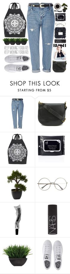 """Keep moving forward #"" by fashionstuffbyflavia ❤ liked on Polyvore featuring River Island, Liebeskind, Boohoo, Bunn, Nearly Natural, NARS Cosmetics, Lux-Art Silks and adidas"