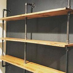 Table Shelves, Pipe Shelves, Wood Shelves, Display Shelves, Pipe Closet, Shoe Rack Closet, Diy Shoe Rack, Boutique Decor, Boutique Interior