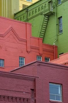 colourful buildings.