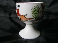 Crown Staffordshire Hunting Scene Single Egg Cup 12748 Rare England Dinnerware #CrownStaffordshire