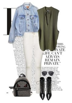 Untitled #379 by marjanne-mestilainen on Polyvore featuring polyvore fashion style adidas Originals Levi's Frame Denim Yves Saint Laurent Fendi The Row clothing