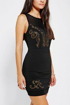 Ecote Keira Studded Bodycon Dress