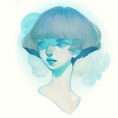 "9,713 Likes, 68 Comments - loish (@loisvb) on Instagram: ""Blue head - full image at blog.loish.net!"""