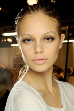 Backstage at Lanvin Spring 2011--great makeup