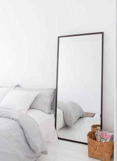 6 Complete Simple Ideas: Kids Bedroom Remodel Storage old bedroom remodel headboards.Rustic Bedroom Remodel Beams master bedroom remodel tips. Minimalist Bedroom Small, Minimalist Decor, Comfy Bedroom, Bedroom Decor, Bedroom Ideas, Girls Bedroom, Master Bedroom, Large Bedroom Mirror, Bedroom Mirrors